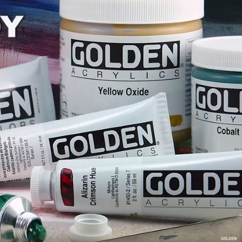 Golden Acryl Maling
