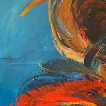 Blå Abstrakt