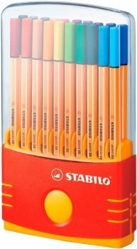 Stabilo ColorParade 0,4mm 20 stk.