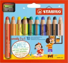 Stabilo Woody 3in1 10 stk/pk