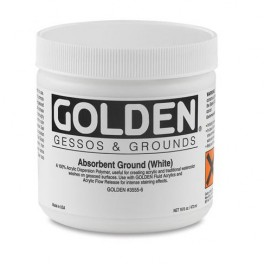 Golden Acryl 236 ml.3555 Absorbent Ground (White)