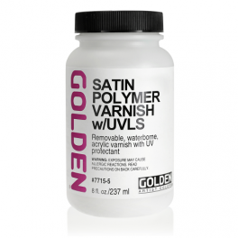Golden Satin Polymer Varnish m/UVLS 237 ml