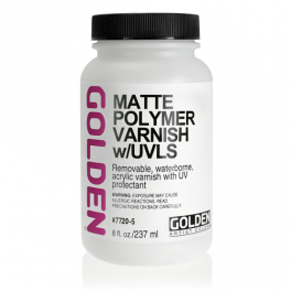 Golden Matte Polymer Varnish m/UVLS 237 ml