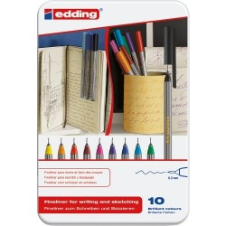 Edding Fineliner For Writing And Sketching 0,3mm 10 stk/pk